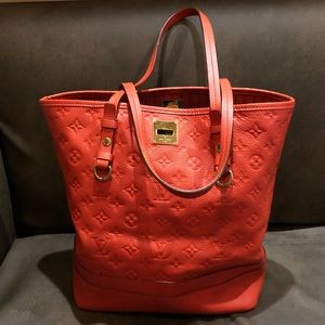 Authentic Louis Vuitton Red Calf skin leather